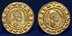 Ancient Coins - AKSUMITE COINS, Anonymous (c. AD 400) Gold 1.59g, 16mm, EXTREMELY FINE & RARE