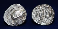Ancient Coins - SELEUCID Empire Antiochos I Soter, with Seleukos I Nikator, AR Drachm. Circa 294-281 BC. ABOUT EF RRR
