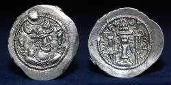 Ancient Coins - SASANIAN KINGS Peroz I. AR drachm, Mint ST (457-484 AD) 4.08g, 30mm, ABOUT EXTREMELY FINE