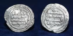 World Coins - ABBASID Dirham Temp Mutawakil, Mint Mohammadiya, Date 145h, 3.68g, 22mm, GOOD VF