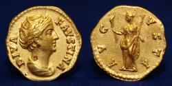ROMAN COINS, Diva Faustina Snr, Gold Aureus, 6h. Mint of Rome, struck AD 141-161, 7.22g, 19mm, EF