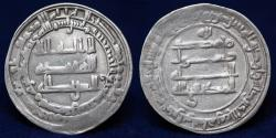 World Coins - ISLAMIC COINS, ABBASID Al-Muktafi Silver Dirham, Misr 294h (24mm,2.9g) GOOD VF & R
