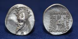 Ancient Coins - PARTHIAN EMPIRE Sinatruces. 93-70 BC. Silver Drachm. 4.09g. 20mm. EF