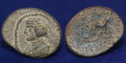 Ancient Coins - PARTHIA PHRAATES III C. 70-58 BC AE DICHALKOUS, Horse. 3.71g, 19mm, VF & R