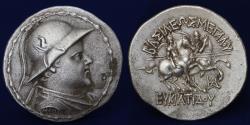 Ancient Coins - GRAECO BACTRIAN KINGDOM Eukratides I 'The Great' AR Tetradrachm. Circa 170-145 BC. 16.41 g, 34mm.