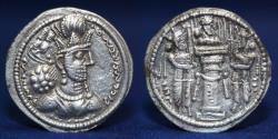 Ancient Coins - SASANIAN EMPIRE Shapur II, 309-379 AD. AR Drachm, 3.99g, 22mm, RARE TYPE