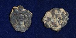 Ancient Coins - SASANIAN Copper Pashiz Khosro II Type (591-628)AD Mint Bishapur, Date ? VF & RR