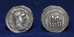 Ancient Coins - Diocletian (A.D. 254-305), Silver Argenteus. Mint of Siscia, struck c. A.D. 294, 3gm, RARE
