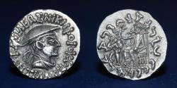 Ancient Coins - BAKTRIA Indo-Greek Kingdom. Antialkidas Nikephoros. Circa 130-120 BC. AR Drachm 2.47g, 16mm, EF