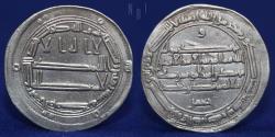 World Coins - ABBASID temp Harun al-Rashid, Silver Dirham, al-Muhammadiya 180h, 2.95g, 25mm, EF