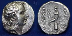 Ancient Coins - SELEUKID KINGS Seleukos IV. 187-175 BC. AR Drachm, Uncertain Median mint. 4.07gm.