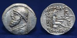 Ancient Coins - KINGS OF PARTHIA, MITHRIDATES II CA 121-91 BC. DRACHM. ECBATANA, 3.87g, 21mm, ABOUT EF