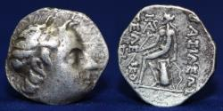 Ancient Coins - SELEUKID KINGS Seleukos IV. 187-175 BC. AR Drachm, Uncertain Median mint, 4.16g, 18mm, VF & R
