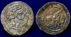 World Coins - Arab Sasanian Copper Pashiz , AE (20mm,0.77g) About EF & Very Rare