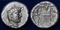Ancient Coins - KINGS OF PERSIS Autophradates(Vadfradad)II early-mid 2nd century BC. Tetradrachm, Istakhr (Persepolis).