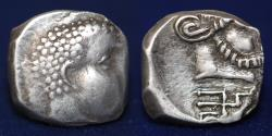 Ancient Coins - ARABIA QATABAN Yad'ab Dhubyan Yuhargib (155-135 BC) AR hemidrachm. 1.93g, 13mm, RARE