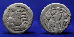 Ancient Coins - SASANIAN KINGDOM Yazdigerd I, 399-420, lead pashiz, 4.11g, 17mm, GOOD VERY FINE & VERY RARE