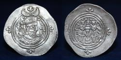 Ancient Coins - SASANIAN EMPIRE Khusro II AR Drachm 591-628 AD, Minted at Rayy (RY) in year 34 (4.12g.33mm) EF