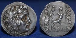 Ancient Coins - MACEDONIAN KINGDOM Alexander III, the Great, 336-323 BC, AR tetradrachm 16.17g, EF