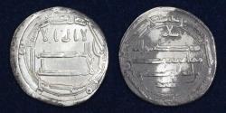 World Coins - ABBASID Al Rashid 786-809 AR Dirham, Al Muhammadiya, AH176, 2.38g, 24mm, VF & R