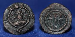 Ancient Coins - SASSANIAN KINGS, Kavadh I, 488-531 AD, AE pashiz, 0.64g, 12mm, ABOUT EF & RR