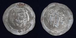 World Coins - ARAB SISTAN Anonymous Khusro type 706-727 AR Drachm Mint SK (Sijistan) AH98, A-77 EF