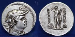 Ancient Coins - BAKTRIA, Greco-Baktrian Kingdom. Demetrios I Aniketos. Circa 200-185 BC. AR Tetradrachm