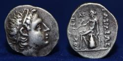 Ancient Coins - SELEUCID KINGDOM. Antiochus III the Great (222-187 BC) Drachm 4.01g, 18mm, Nearly EF & RARE