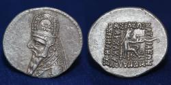 Ancient Coins - PARTHIAN EMPIRE Mithradates III. Circa 87-79 BC. Silver Drachm, 3.88 g, 21 mm.