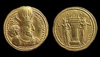 Ancient Coins - Sasanian Kingdom. Shapur I, Gold Dinar AD 240-272. Mint I