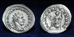 Ancient Coins - PHILIP I The Arab AR Antoninianus. Rome Mint 244-247 AD. 4.72g. 25mm.