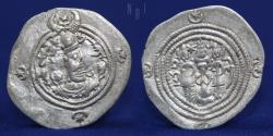 Ancient Coins - SASANIAN KINGS Khosrow II (590-628) AR Drachm, Mint GY. Date 2, 4.03g, 30mm, EF & R
