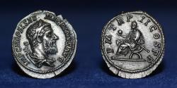 Ancient Coins - MACRINUS 217-218 AD, SILVER DENARIUS. struck AD.218, 20mm, 2.56g, EF & R