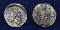 Ancient Coins - TRIBAZOS SATRAPS AR Obol Tarsos mint. Struck circa 383-380 BC, 0.71 g, 10 mm, ABOUT EF R