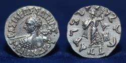 Ancient Coins - INDO GREEK Menander I, Silver Drachm. 2.42g, 17mm, EXTREMELY FINE