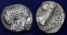 Ancient Coins - ARABIA SOUTHERN QATABAN Late 4th-3th Centuries BC. AR Tetradrachm. 16.74g, 20mm.