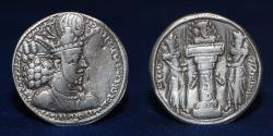 Ancient Coins - SASANIAN KINGS Shahpur II. AD 309-379. AR Drachm. mint name (BST)?. 3.53g. 23mm. ABOUT EF
