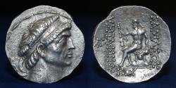 Ancient Coins - KINGS of CHARACENE Hyspaosines. Circa 127-124 BC. AR Tetradrachm 16,38g, 31mm, ABOUT EF RR