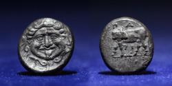 Ancient Coins - MYSIA Parion 350-300 BC. AR Hemidrachm. 2.32 g. 13 mm.