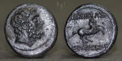Ancient Coins - BACTRIA Euthydemos I, Bronze chalkous (unit) c. 230-220 BCE, 6.91g, 24mm, EF & R