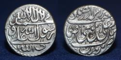 World Coins - QAJAR Silver Dirham, Mohammad Hasan Khan AR Rupi, mint Mazandaran, Date 1170, 11.48g, 24mm, EF