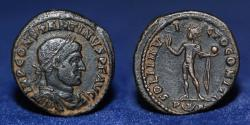 Ancient Coins - Constantine I, AE Follis 317 Aquileia, Officina 1, IMP CONSTANTINVS P F AVG, 3.42g, 20mm, VF