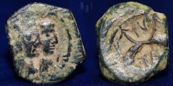 Ancient Coins - Nabataea, Aretas IV & Shuqailat. 9 BC - 40 AD, 3.69gm, 19mm.
