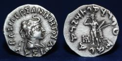 Ancient Coins - INDO-GREEK: Lysias, ca. 120-110 BC, AR drachm, 2.45g, 17mm, ABOUT EF