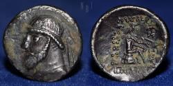 Ancient Coins - PARTHIA Phraates II, 132-127 BC. AR Drachm, imitated type. 4.47g, 19mm, VF & R