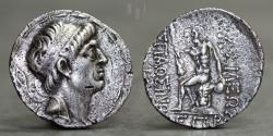 Ancient Coins - KINGS of CHARACENE. Hyspaosines. Circa 128/7-124 BC. AR Tetradrachm, 14.93g, 31mm, VF & RR