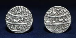 World Coins - SHAH JAHAN Ahmadabad Mint Silver Rupee 11.37g, 20mm, ABOUT VERY FINE