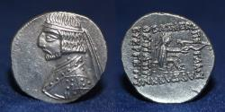 Ancient Coins - KINGS OF PARTHIA Arsakes XVI. 78/7-62/1 BC. AR Drachm, Rhagai mint. 4.14g. 21mm. EF