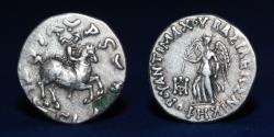 Ancient Coins - INDO GREEK Antimachos (Antimachus) II AR Drachm c. (174-165 BCE) 2.41g, 16mm, GOOD VF