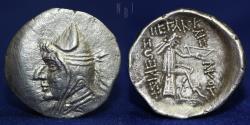 Ancient Coins - Parthian AR Drachm, Mithradates I (171-138) Hekatompylos, c. 171-138 BC, 3.73g, 20mm, VF & R